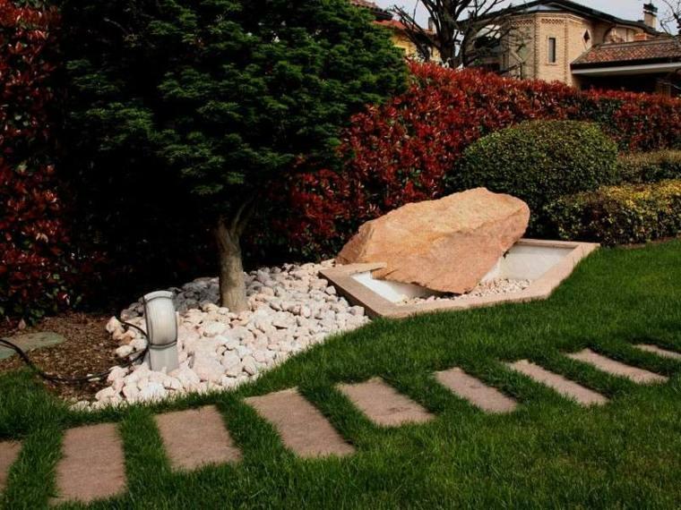 jardines decorados con piedras estilo