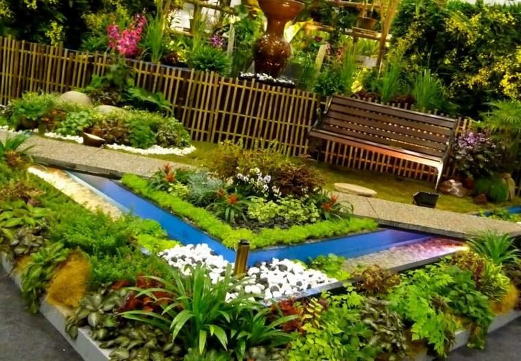 jardines decorados piedras colores