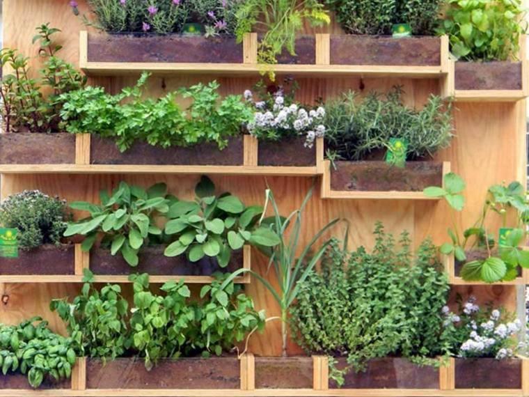 jardines verticales para terraza caseros