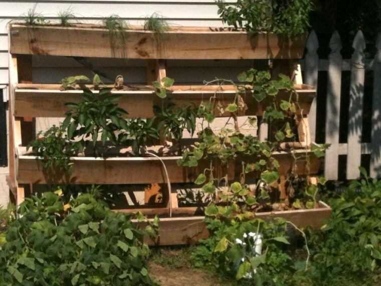 jardines verticales para terraza escalones