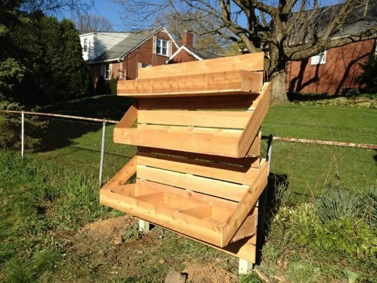 jardines verticales para terraza estructuras madera