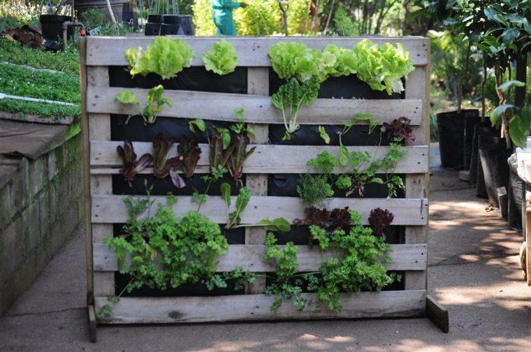 jardines verticales para terraza palets