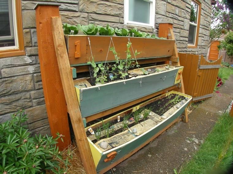 jardines verticales para terraza verduras