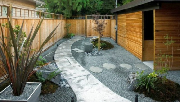 diseños jardines zen estilo moderno
