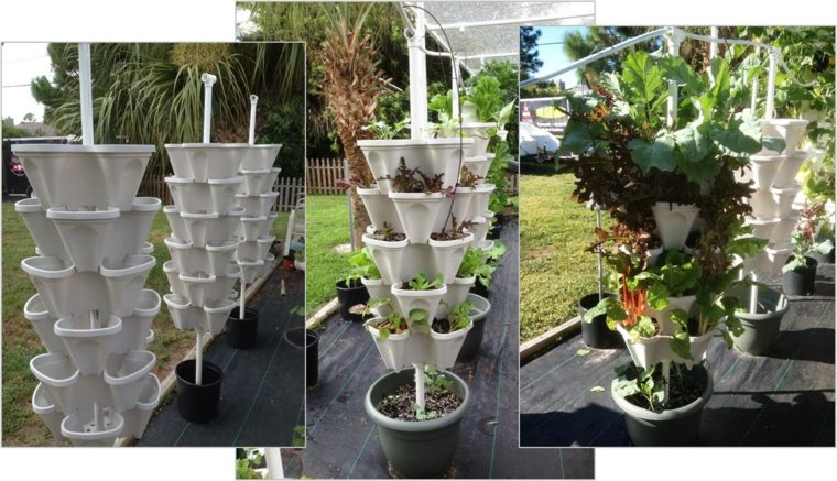 jardineras verticales maceta alargada