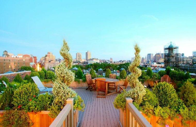 jardin techo jardinera espacio descanso precioso ideas
