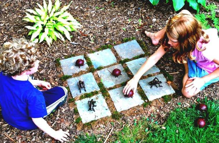 juegos para ninos al aire libre ajedrez tres en raya ideas