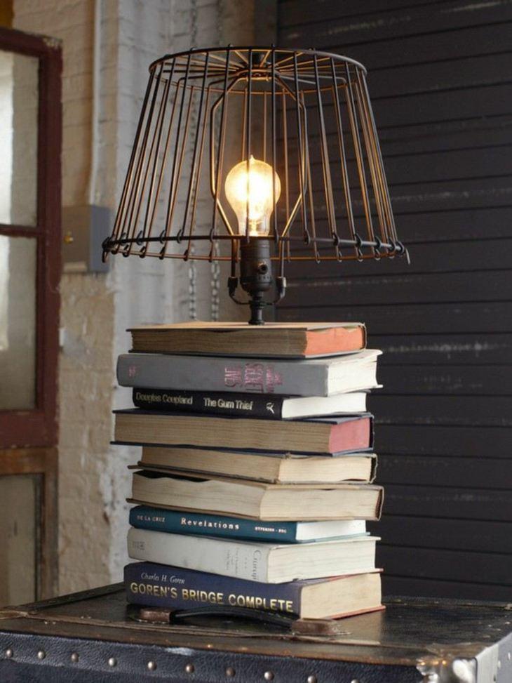 lampara libros fuentes muebles proceso