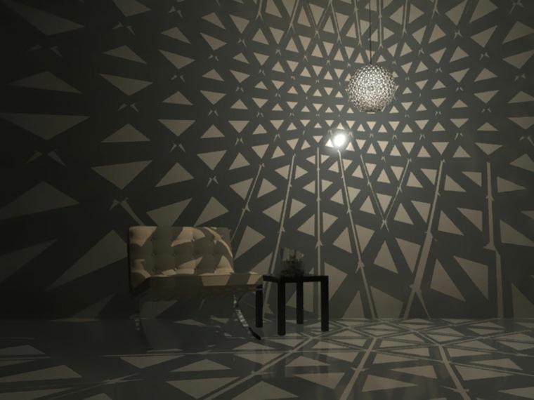 lamparas moderna hechas envases carton iluminacion salon ideas