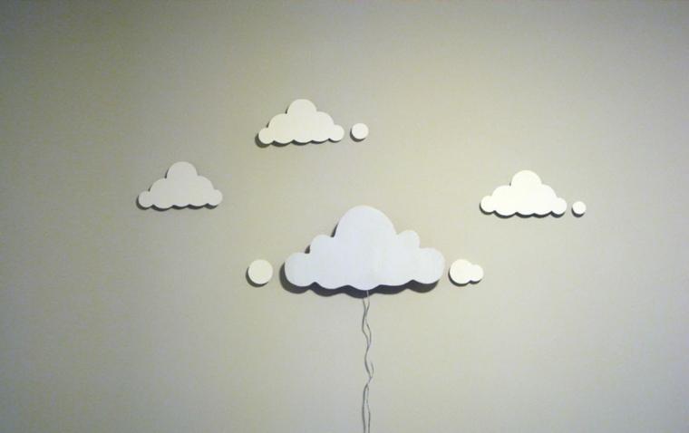 lamparas moderna hechas habitacion nino nubes ideas