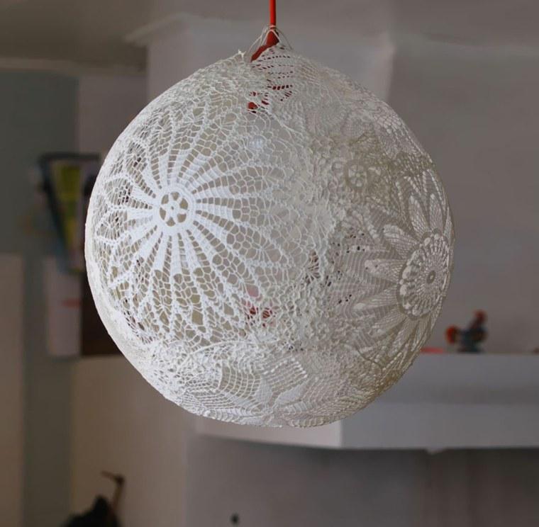 lamparas moderna hechas tela interesante ideas