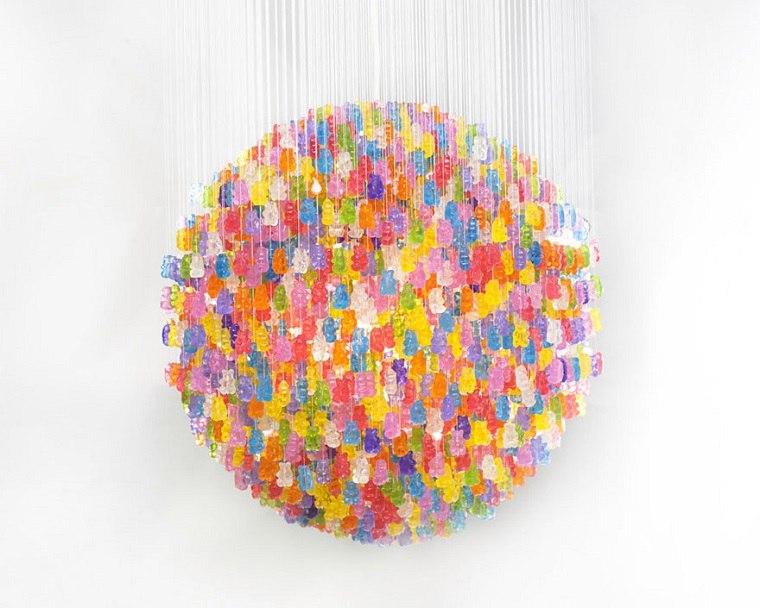 lamparas modernas hechas osos goma chuchesrias ideas