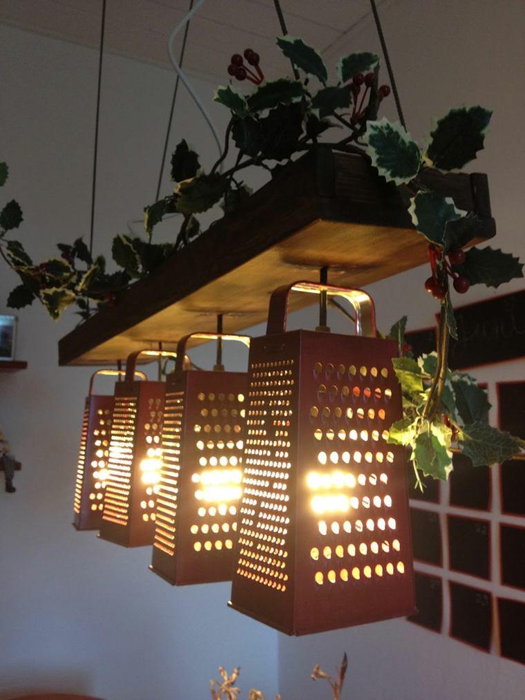 lamparas modernas hechas rallador opciones ideas