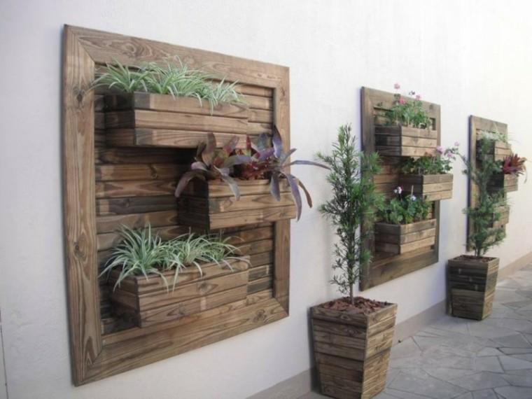 Paredes y vallas con jardines verticales - Jardin vertical con palets ...