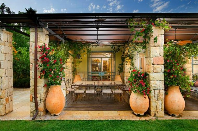 macetas teracota opciones interesantes plantas aire libre ideas