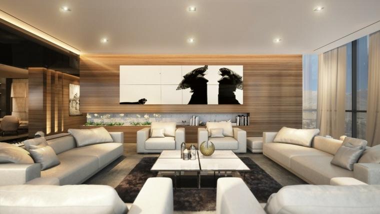 madera contrastes salones conceptos espacios