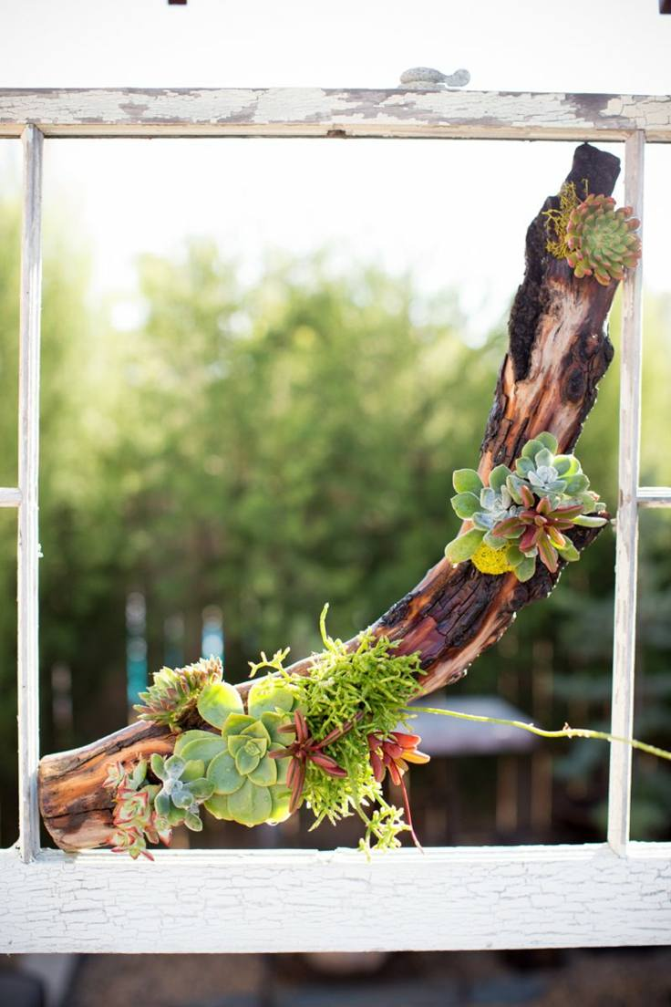 madera maceta jardin vertical aire libre plantas ideas