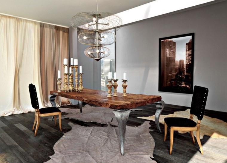 manualidades con madera opciones mesa comedor diseno moderno ideas