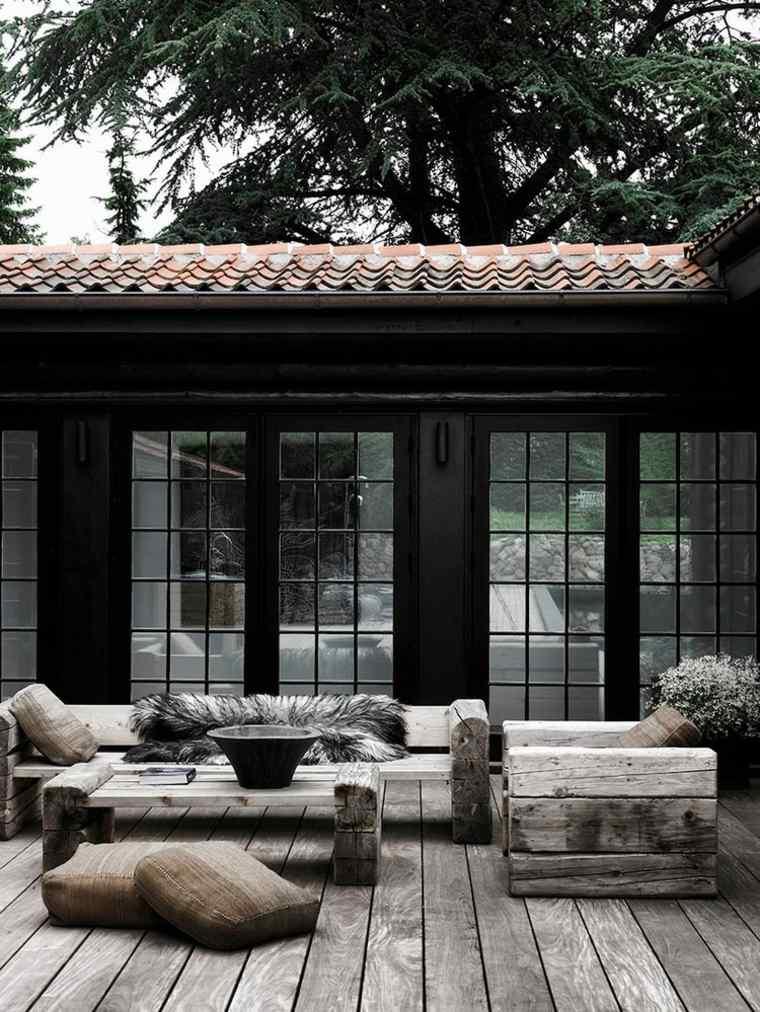 manualidades con madera opciones mesa sofa sillones vigas madera ideas