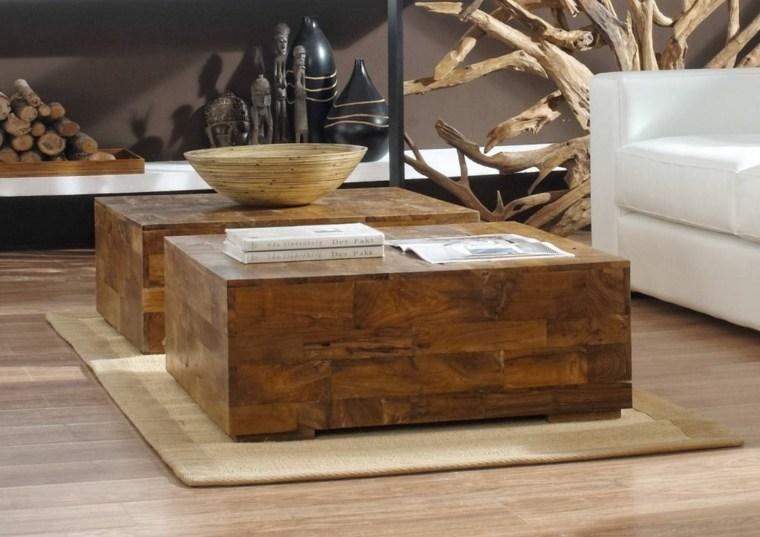 manualidades con madera opciones mesitas salon ideas