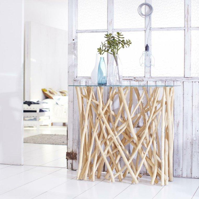 manualidades madera opciones ramas madera mesita ideas
