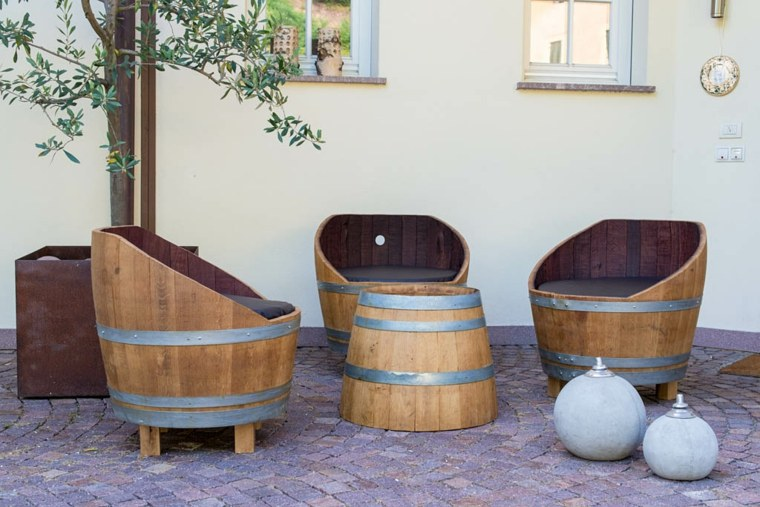 manualidades madera opciones sillon barril originalidad ideas