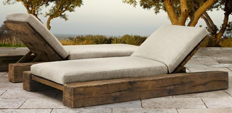 Manualidades con madera ideas de muebles que puede recrear for Vigas de madera para jardin