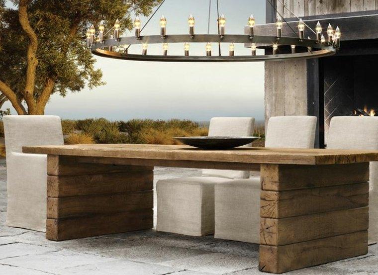 manualidades madera opciones vigas mesa comedor ideas
