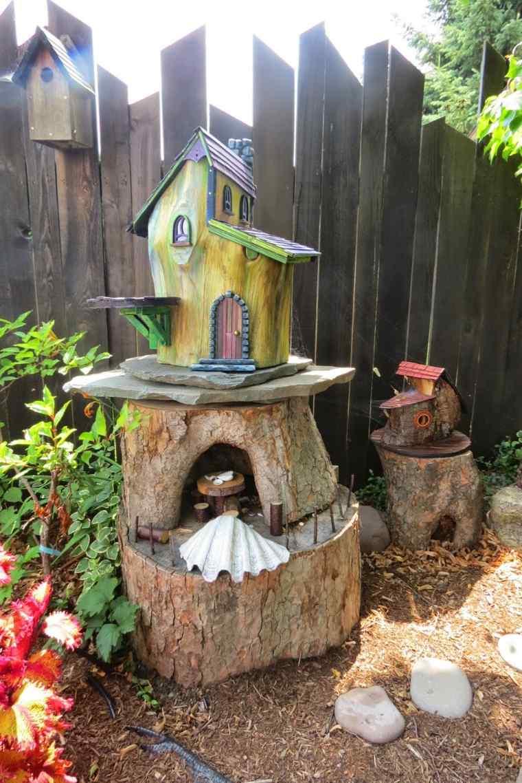 Ideas creativas manualidades y decoraci n del jard n for Como tratar un tronco de madera para decoracion