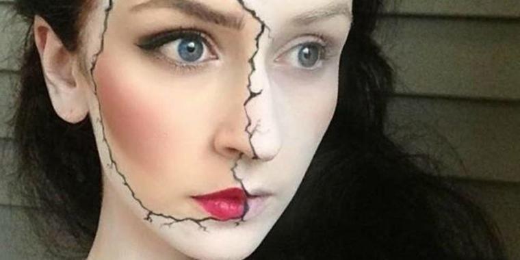 maquillaje para halloween cara cera