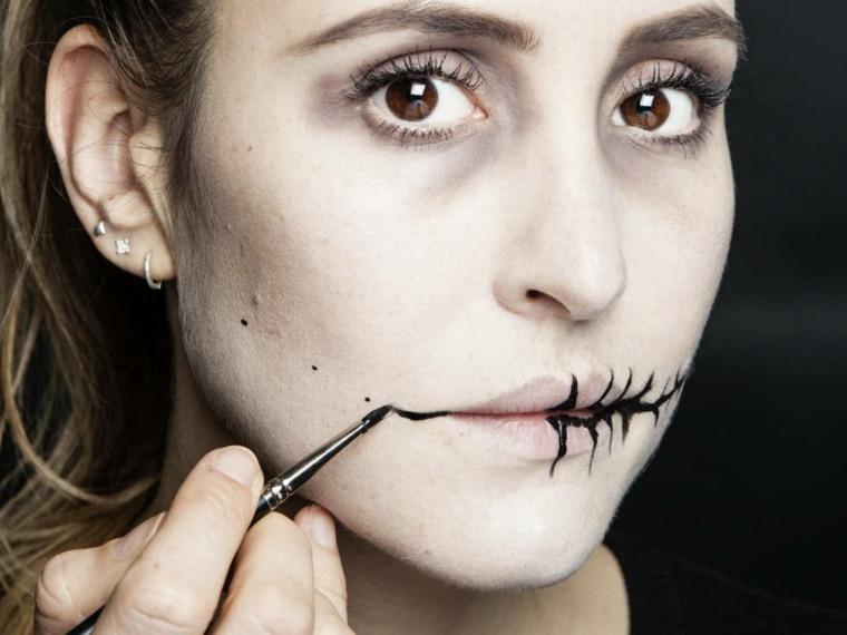 maquillaje para halloween costura