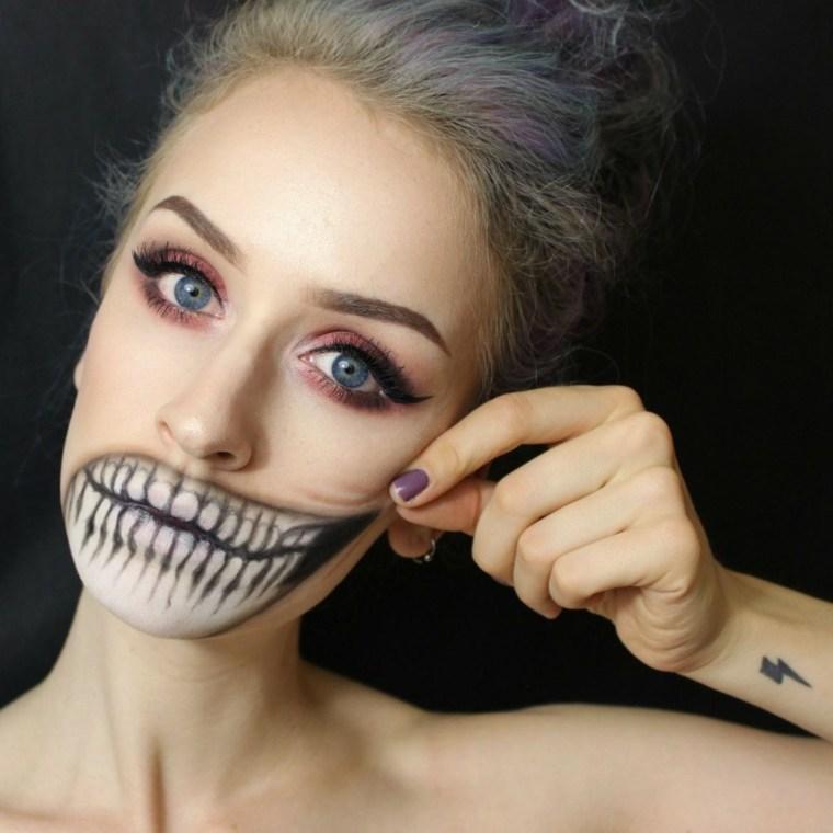 maquillaje para halloween dentadura diferente