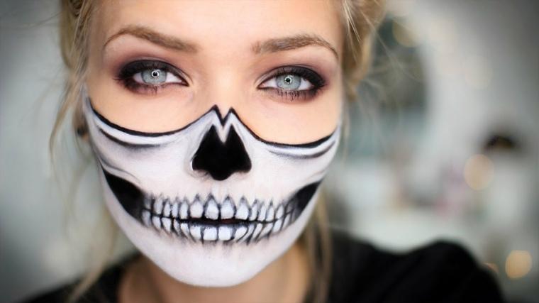 maquillaje para halloween dentadura labios