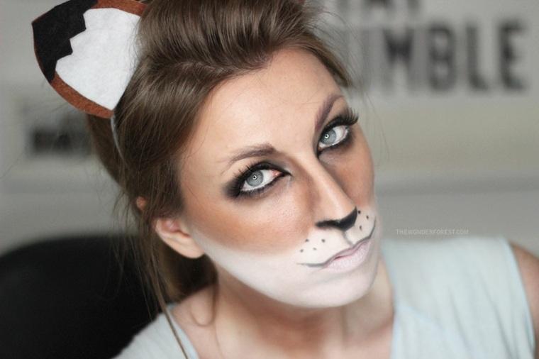 maquillaje para halloween dos colores