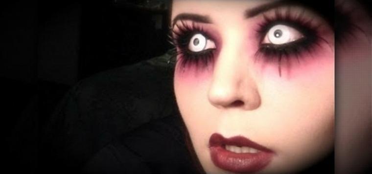 maquillaje para halloween lentillas blancas