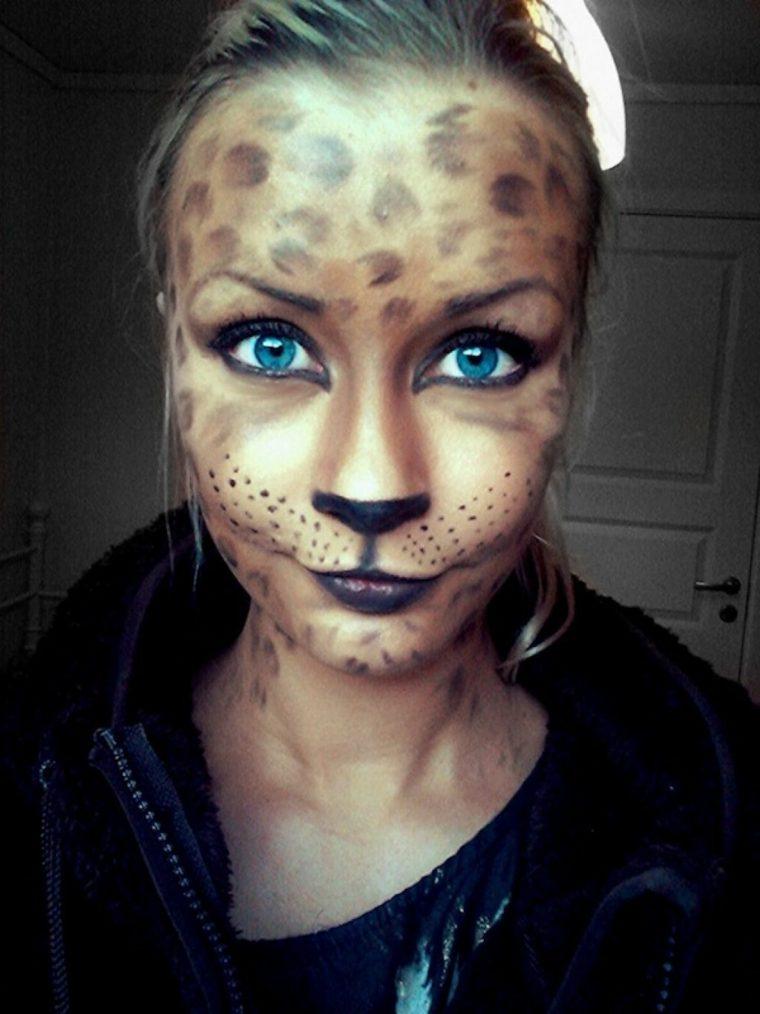 maquillaje para halloween motivos gatunos
