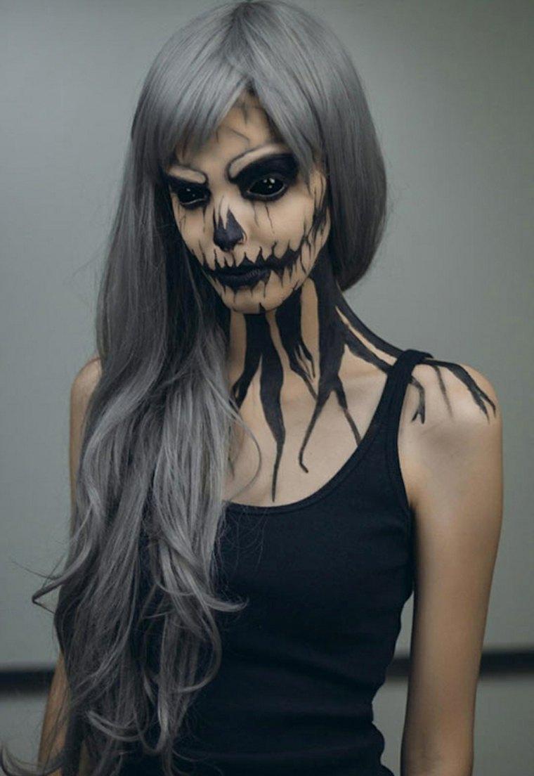 maquillaje para halloween mujer muerta