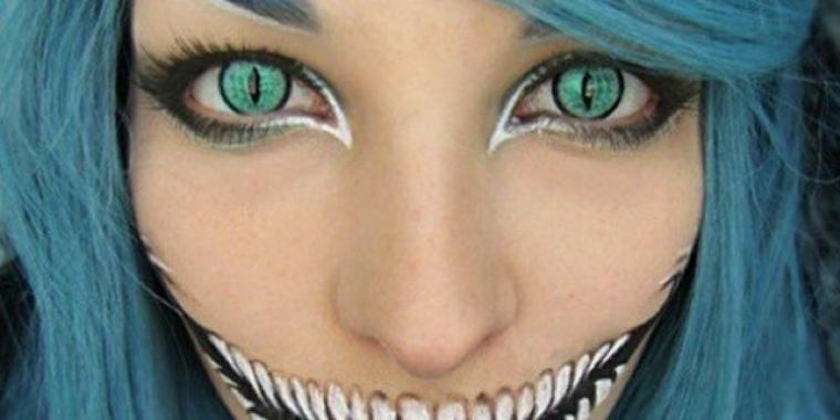 maquillaje para halloween ojos gato