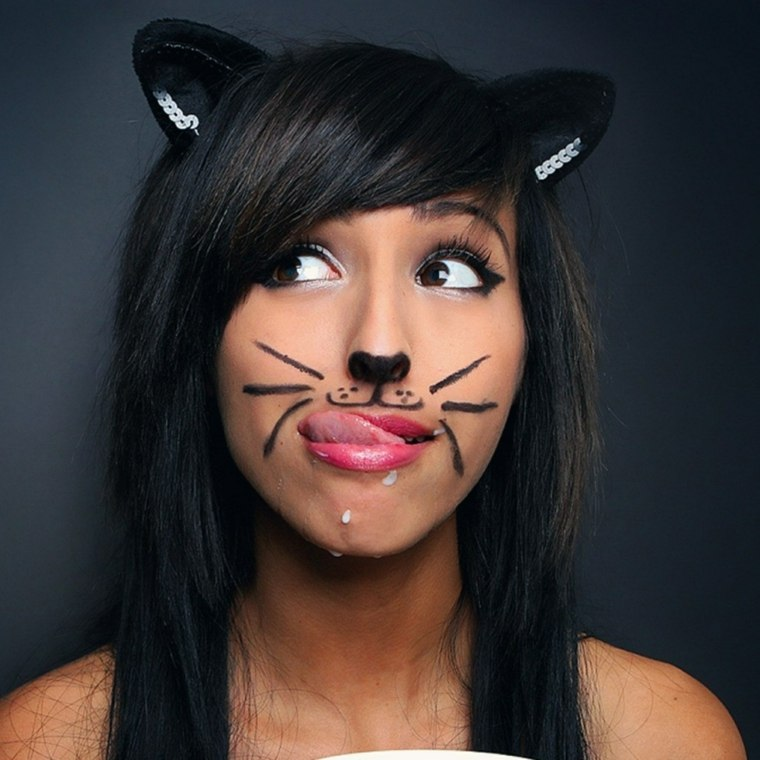 maquillaje para halloween orejas gato