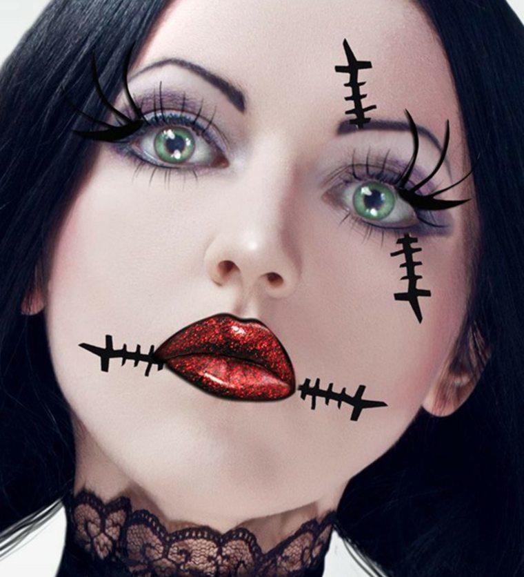 maquillaje para halloween pestanas postizas