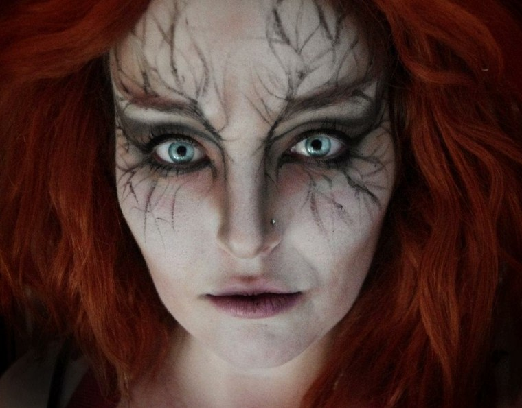 maquillaje para halloween raíces cara