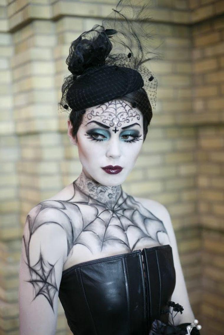 maquillaje para halloween telaraña
