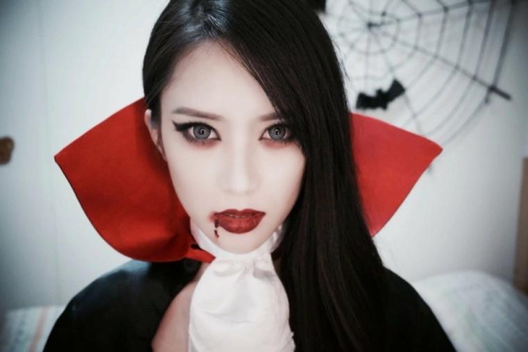 maquillaje para hallween difraz vampiresa