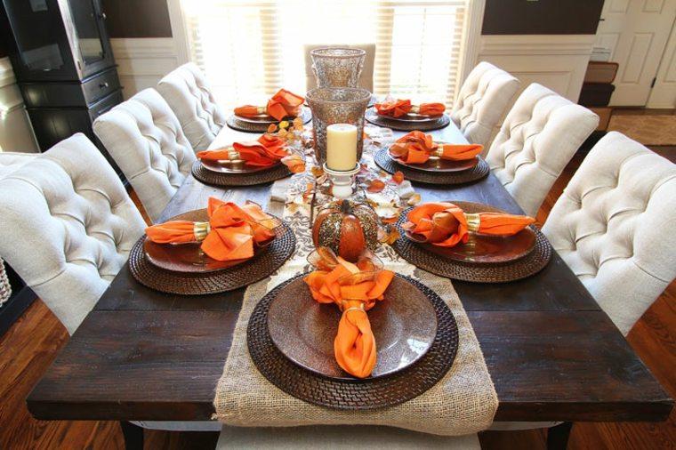 mesa deco servilleta naranja