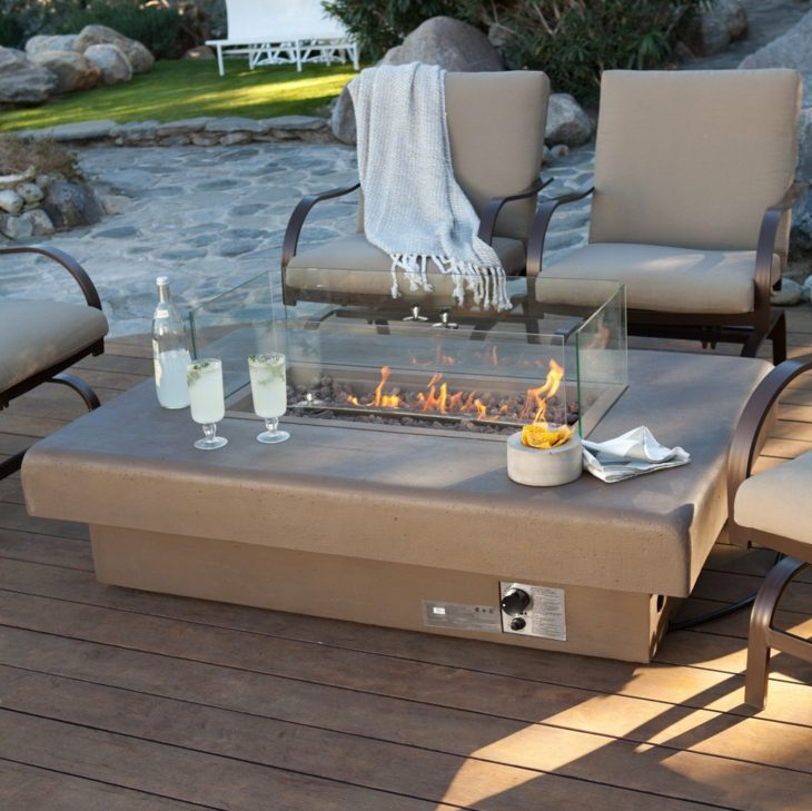 mesa integrada mueble gas claros