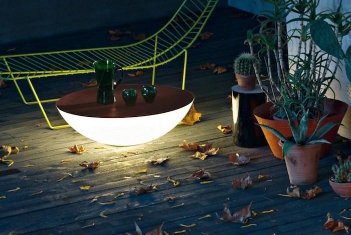 mesa luces incorporadas luna baja