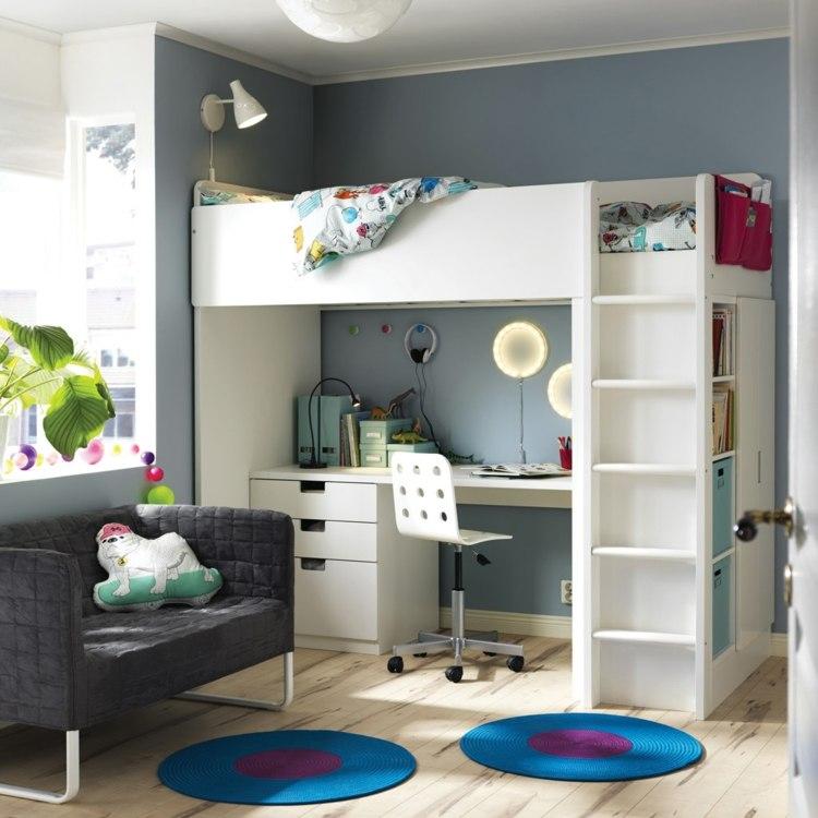 Mesas de escritorio para el dormitorio del adolescente - Camas con escritorio debajo ...