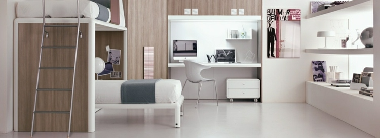 mesas de escritorio dormitorio adolescente color blanco ideas