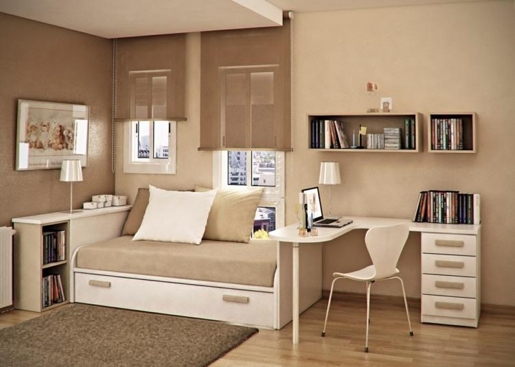 mesas de escritorio dormitorio adolescente color neutrales ideas