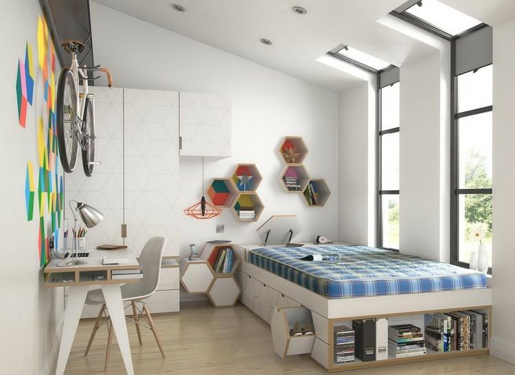 mesas de escritorio dormitorio adolescente diseno contemporaneo ideas